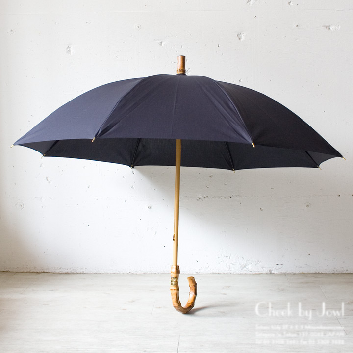 Traditional Weatherwear / トラディショナルウェザーウェア 晴雨兼用長傘 UMBRELLA BAMBOO GOLD ネイビー