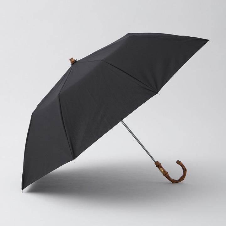 送料無料 日傘としても使えるバンブー製ハンドルの折り畳み傘 Traditional Weatherwear トラディショナルウェザーウェア 商品追加値下げ在庫復活 晴雨兼用折りたたみ傘 GOLD UMBRELLA FOLDING 今ダケ送料無料 ブラック BAMBOO