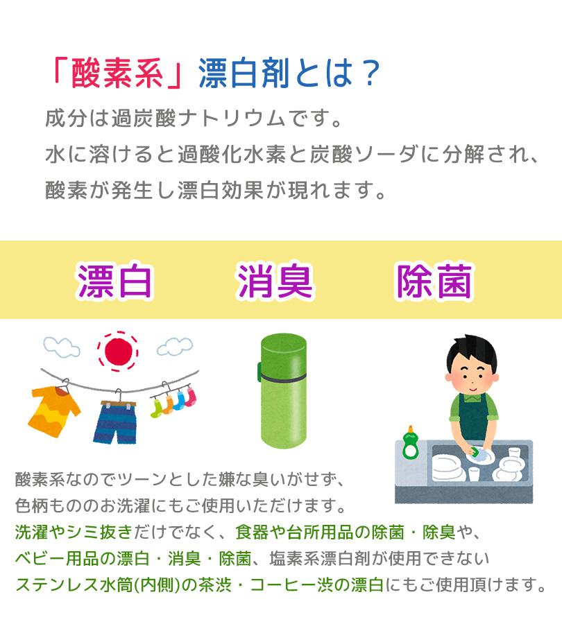 シャボン玉石けん 酸素系漂白剤 750g お得な4個セット 除菌 除臭 洗濯掃除 過炭酸ナトリウム