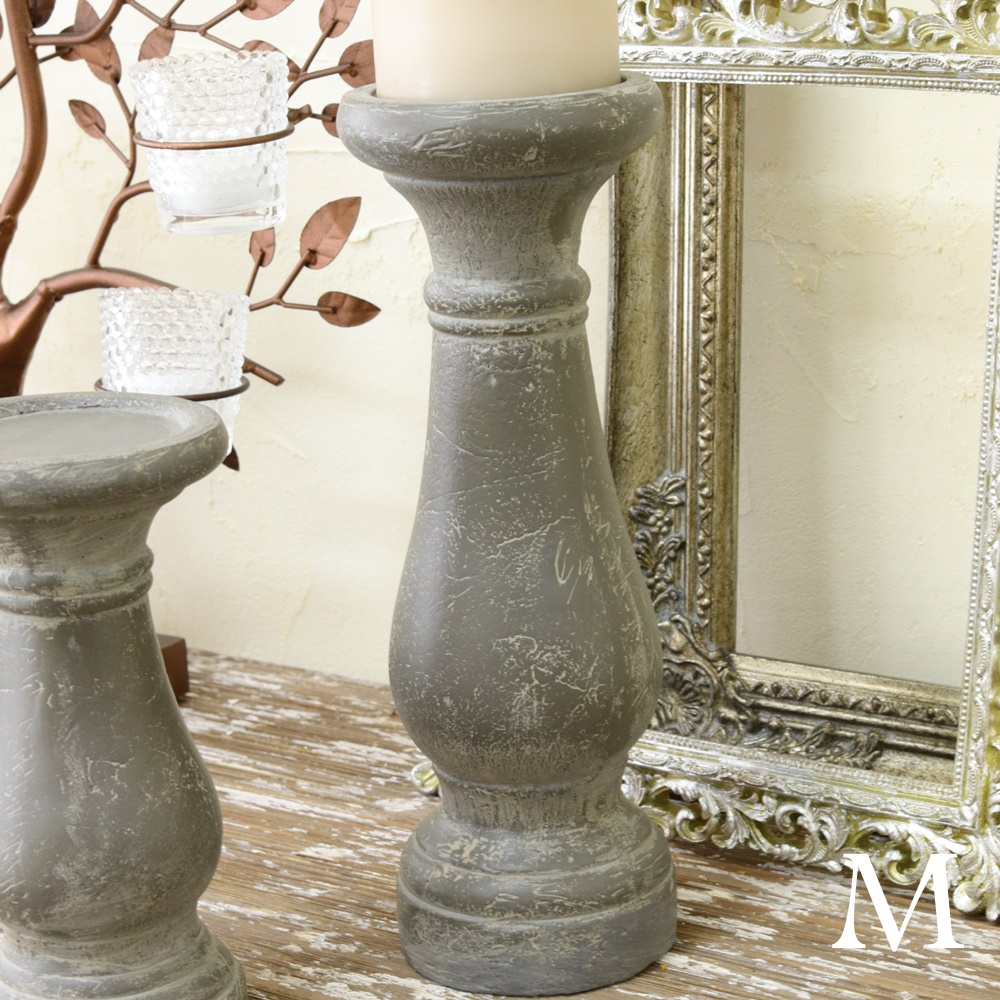 Candle Stands Antique Wedding Ceremony Terra Cotta Holder M Style シャビーシック Fashion Clics Φ 10 4 29 4cm In Height