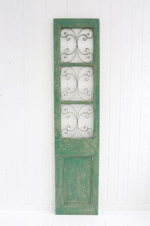 アンティーク風 雑貨 コベントガーデン ヴェルデドア エメラルドグリーン アンティークパーテーション 巾43×奥行4×高さ189cm