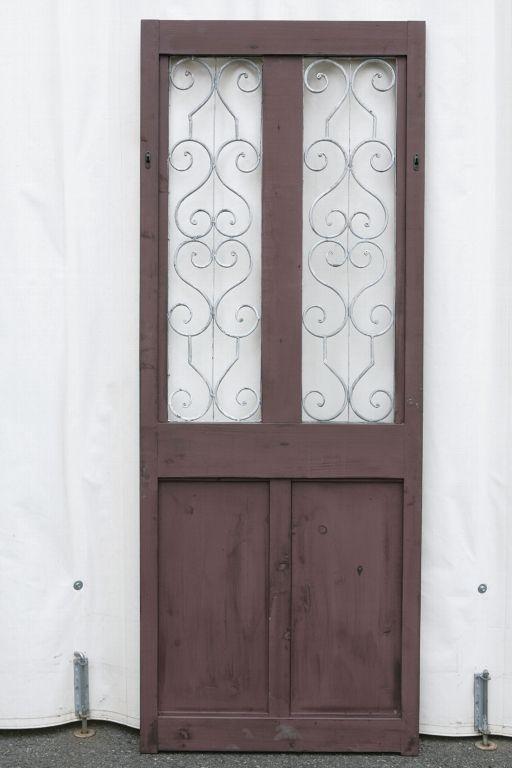 アンティーク風 雑貨 コベントガーデン アイアンデコツインドア ブラウン アンティークパーテーション 巾70×奥行5×高さ183cm(商品重量:10.5kg)