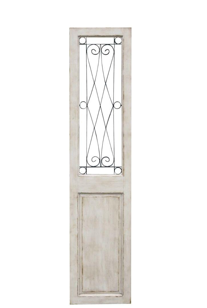 ドア アンティーク フレンチカントリー シャビーシック 店舗什器 コベントガーデンホワイトグリルドア 巾45.5×奥行3.5×高さ203cm