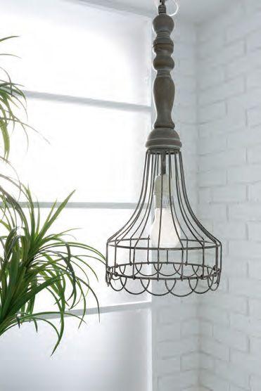 コベントガーデン ウェアハウスペンダント アンティーク風 照明 シェード&灯具セット(40W電球付き)Φ20.5×高さ52cm