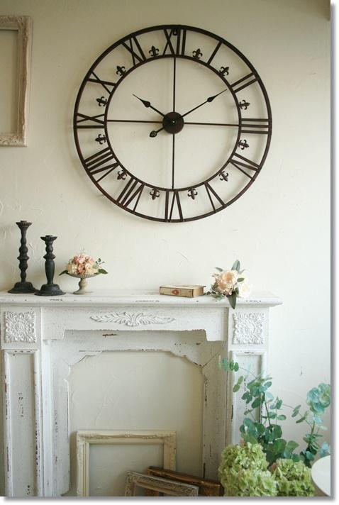 掛け時計 おしゃれ アンティーク コベントガーデン アンティーク ラージクロック 壁掛け時計 Φ73×奥行3cm