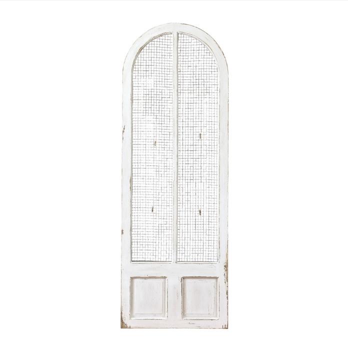 【法人様限定】アンティーク風 雑貨 シャビーシック ディスプレイドア ホワイト アンティークパーテーション 巾66×奥行3×高188.5cm