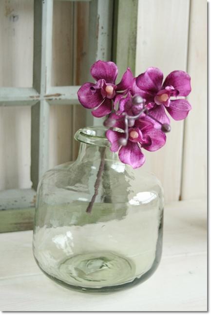 经典玻璃 (LKDT1020) 经典玻璃 B 花瓶,玻璃古董