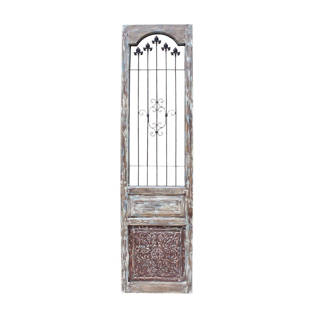 【法人様限定】アンティーク風 雑貨 バロックウッドヴォレー ブラウン アンティークパーテーション 巾49×奥行3×高さ190cm
