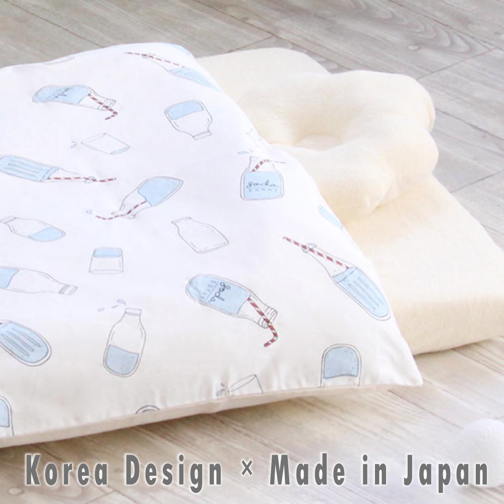 mela-B(メラビー) ミニベビー布団 セット |韓国デザイン 日本製 洗える ベビーベッド 添い寝 敷き布団 マット マットレス パイル シーツ 組ふとん 赤ちゃん ベビーふとん