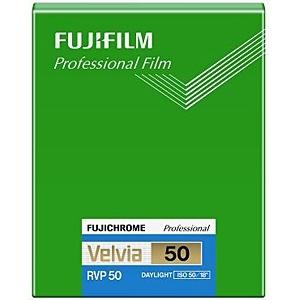 富士フィルム フジクローム ベルビア50 シートフィルム 4X5(20枚入) CUT VELVIA50 NP 4X5 20