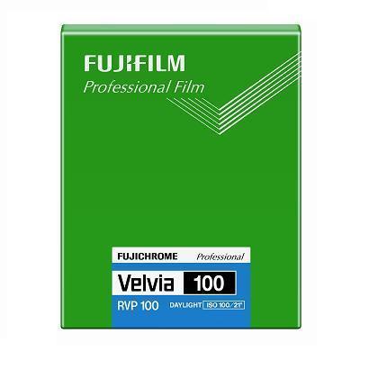 富士フィルム フジクローム ベルビア100 シートフィルム 4X5(20枚入)CUT VELVIA100 NP 4X5 20