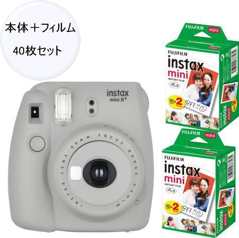 (フィルム40枚付き)富士フィルム(フジフィルム)チェキinstax mini8+ プラス セサミ+フィルム40枚付き
