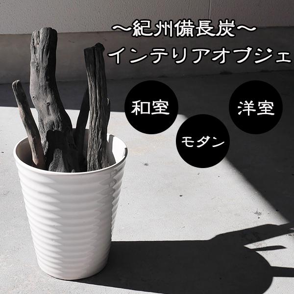 紀州備長炭 備長炭 インテリア 1点 逸品 脱臭 空気清浄 癒しオブジェ 日本製【sumi0012】