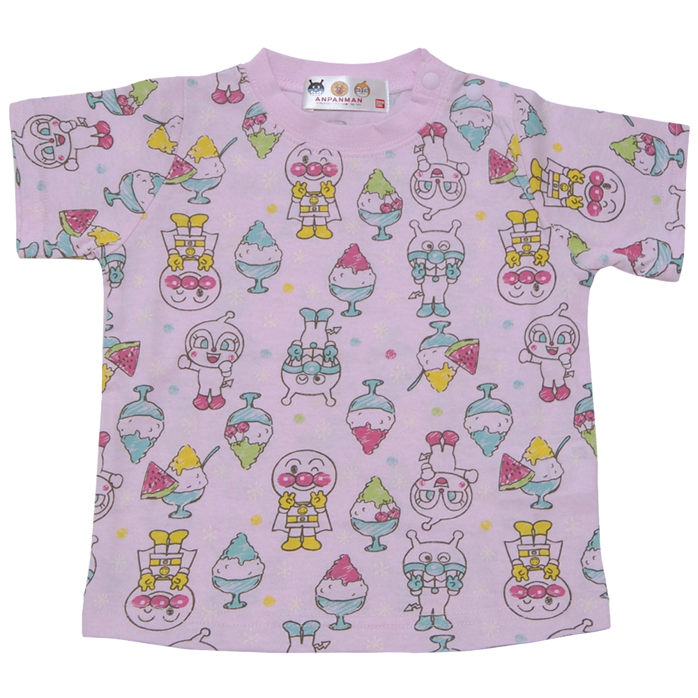 2c97bad7adb6 It is Anpan-Man loving all. It is excellent at comfort in a hot season! It  is the short-sleeved T-shirt of the T-cloth material.
