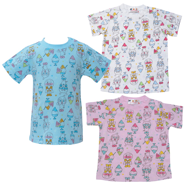 c6a6845ddf4f Baby market  Anpan-Man T-cloth for summer glitters in 2018! Phosphorescence  whole pattern print short sleeves T-shirt Anpanman
