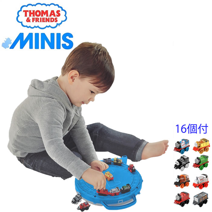 きかんしゃ トーマス ギフトセット MINIS THOMAS 機関車 専用ケース フィッシャープライス 16種類 クリスマス