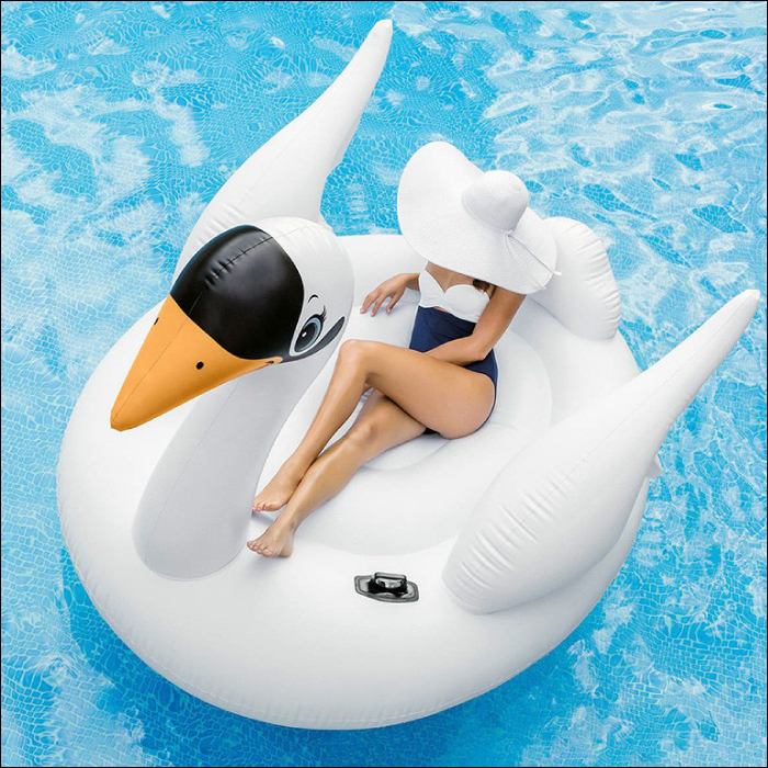 It is extreme popularity in SNS! Big size! Float intex INTEC's mega flamingo most suitable for a 2m bird flamingo pool, the sea, the leisure for swan type float adult
