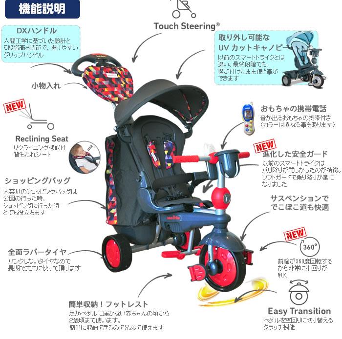 마치 유모차. スマートトライク 최고급 모델 탐색기 삼륜 차 키 잡이가 붙어 Smart Trike Explorer 방향 잡고 크리스마스 선물