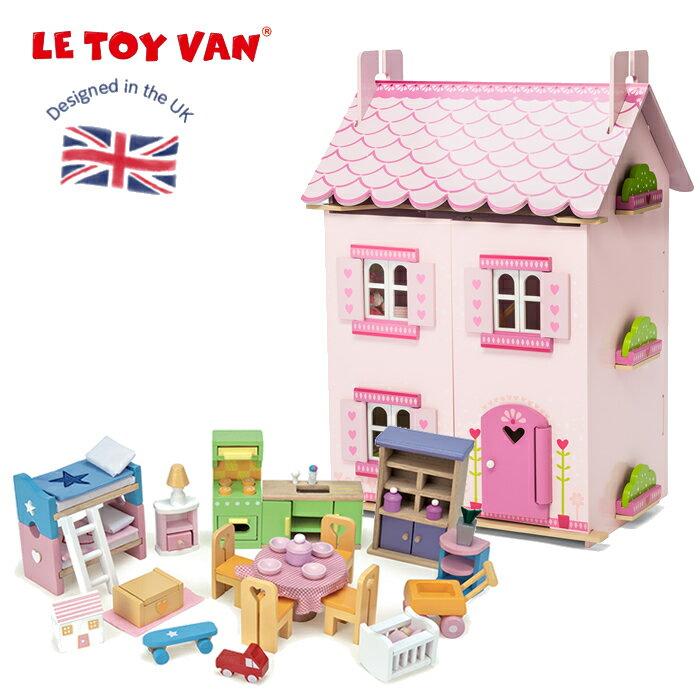 イギリス 木製&ペイントドールハウス レトイバン【C1000】 マイファーストドリームハウス  ミニチュアハウス ままごと 木のおもちゃ Le Toy Van レ・トイ・バン