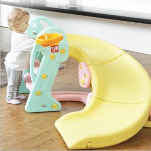 미끄럼 틀 딸린 YaYa 갓난아이 놀이터 장난감 어린이 미끄럼 틀 실내 미끄럼 틀 실내 놀이 기구, 놀이 기구 장난감 볼 풀