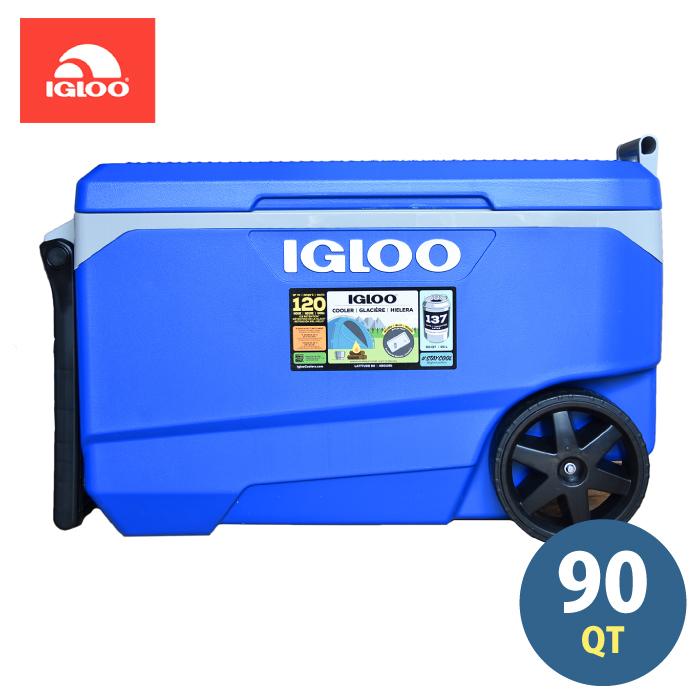 クーラーボックス イグルー 大型 大容量 85L 90QT IGLOO クーラーBOX 業務用 保冷 冷却 抜群 アウトドア キャンプ バーベキュー BBQ 釣り 海水浴 アメリカ製 テーブル付き
