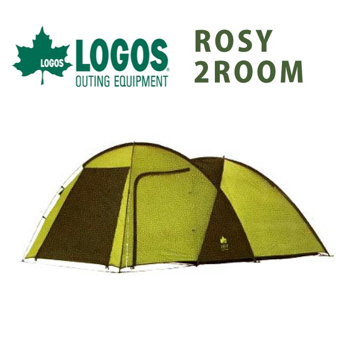 テント ロゴス ロージー ツールーム 2ルームテント 4人用 logos インスタント キャビン キャンプ ルーフ 屋根 スクリーンタープ