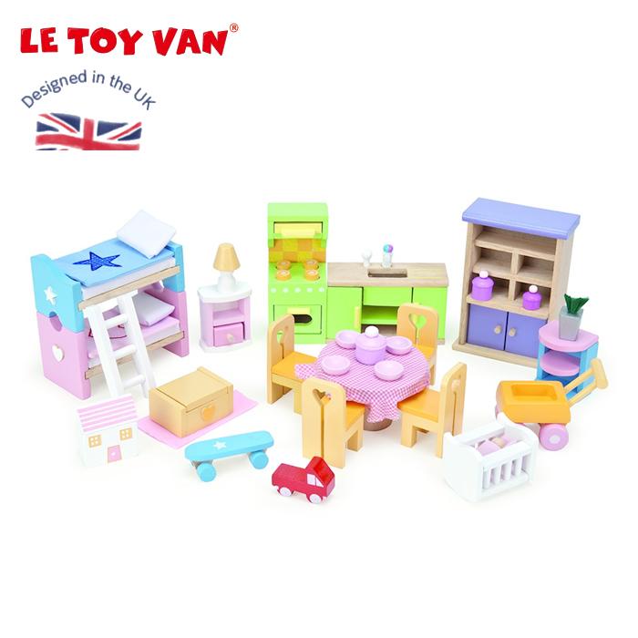 Cherrybell Dollhouse Le Toy Van Le Toy Bains Starter Furniture Set