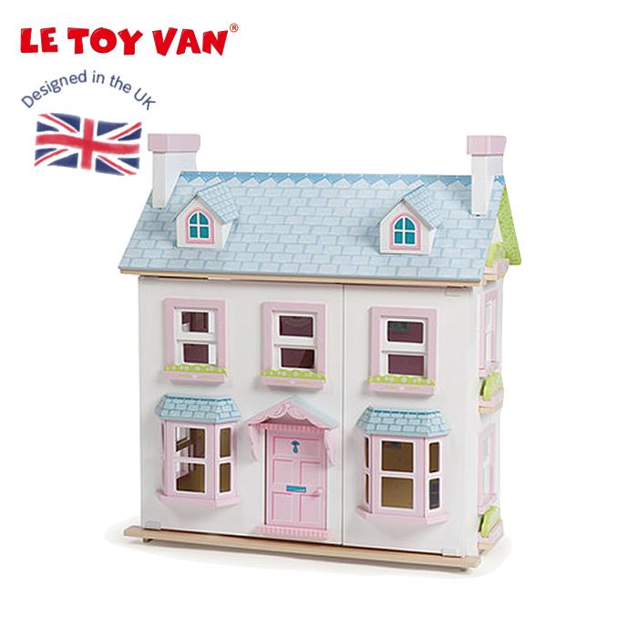 ドールハウス お人形ごっこ ミニチュアハウス 二階建て 屋根裏付き 木のおもちゃ  木製 &ペイント 高品質 レトイバン Le Toy Van レ・トイ・バン メイベリーマナー