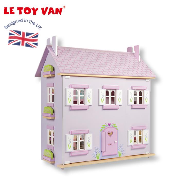 ドールハウス レトイバン 【C1000】 Le Toy Van レ・トイ・バン Lavender House ラベンダーハウス ミニチュアハウス 二階建て 屋根裏付き