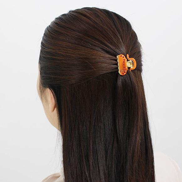 ALEXANDRE DE PARIS (Miss ALEXANDRE) Alexandre de Paris hairclip PINCE VENDOME BABY SIZE [pins Vendome baby, Orange LICCB-12831-03 06 ORANGE