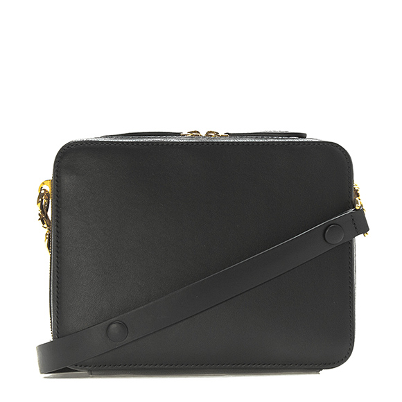 The Stack Double Crossbody Bag in Black Circus Leather Anya Hindmarch Discounts Online Sale Buy Authentic Sale Online gyEE0