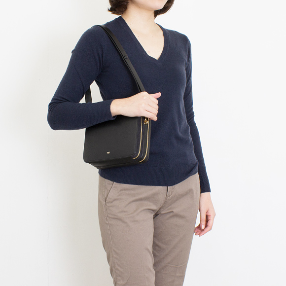 a3a4bebe01 ... アニヤハインドマーチ ANYA HINDMARCH bag lady 3WAY hand / shoulder / clutch bag  black THE ...