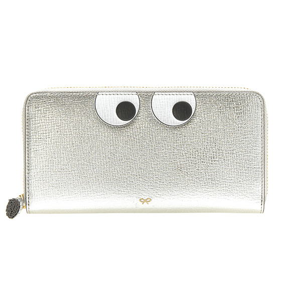 e75d6010b78a ... マーチ ANYA HINDMARCH 財布 レディース ラウンドファスナー長財布 シルバー LARGE ZIP ROUND WALLET  EYES IN SILVER METALLIC CAPRA 5050925925754 | 英国