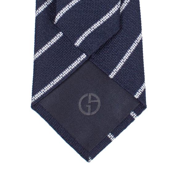 조르지오 알마니 GIORGIO ARMANI 넥타이 블루×화이트(스트라이프무늬) CVT8 LINEARE 360054 7 P901 7 P921 035 BLUE