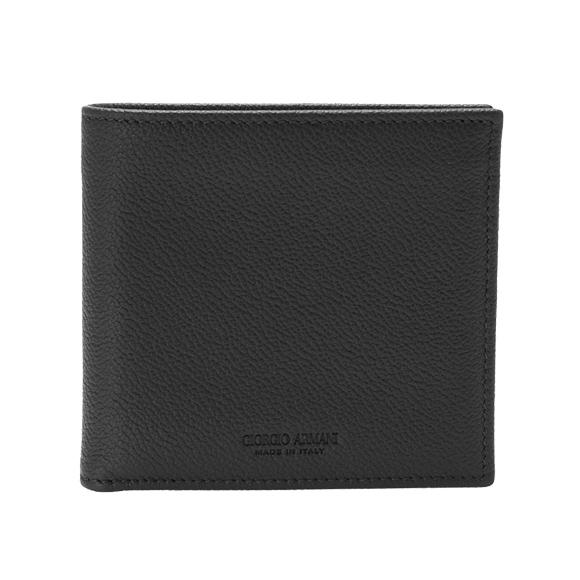 ジョルジオアルマーニ GIORGIO ARMANI 財布 メンズ 二つ折り財布(小銭入れ付) ブラック 黒 BIFOLD WALLET Y2R122 YEM4J 80001 BLACK