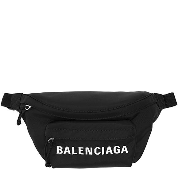 バレンシアガ BALENCIAGA バッグ メンズ ウエストバッグ ブラック WHEEL BELTPACK 533009 HPG1X 1070 BLACK/BLACK