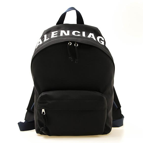 バレンシアガ BALENCIAGA バッグ レディース バックパック(リュック) ブラック×ネイビーブルー WHEEL SMALL BACKPACK 565798 HPG1X 1090 BLACK/NAVY BLUE