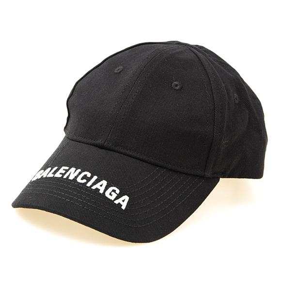 バレンシアガ BALENCIAGA レディース キャップ ブラック HAT LOGO VISOR CAP 531588 310B2 1077 BLACK/WHITE