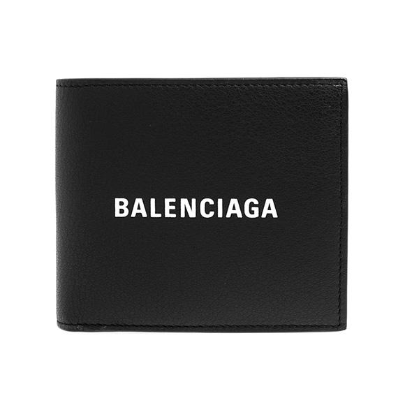 バレンシアガ BALENCIAGA 財布 メンズ 二つ折り財布 ブラック 黒 EVERYDAY SO CO WALL 487435 DLQHN 1060 NOIR/L BLANC