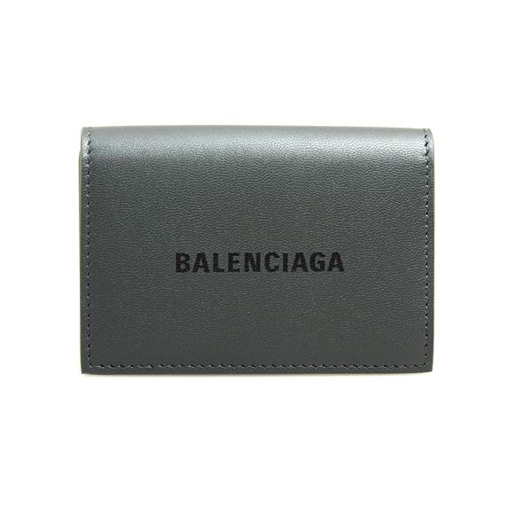 バレンシアガ BALENCIAGA 財布 メンズ 三つ折り財布 ダークグレー CASH MINI WALLET 594312 1I313 1360 DARK GREY/L BLACK