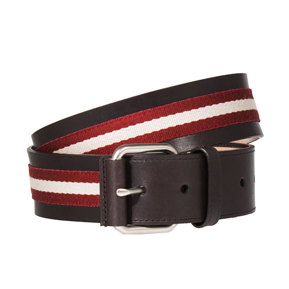 バリー BALLY ベルト メンズ LETTERING TRAINSPOTTING TIANIS-40 チョコレートブラウン BELT 6187225 981 RED BALLY/BEIGE