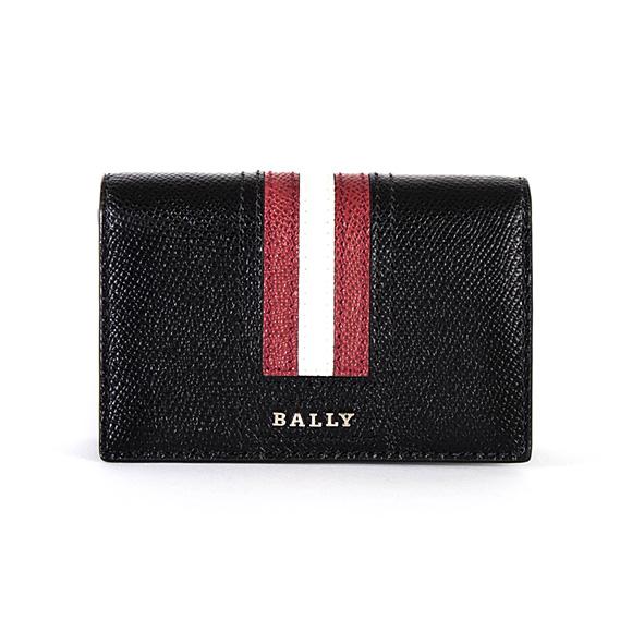 バリー BALLY メンズ 名刺入れ(カードケース) ブラック 黒 LETTERING TSP TYKE.LT 6218025 10 BLACK