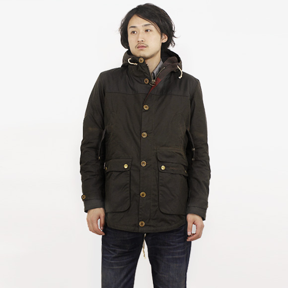 Barbour game parka in wax