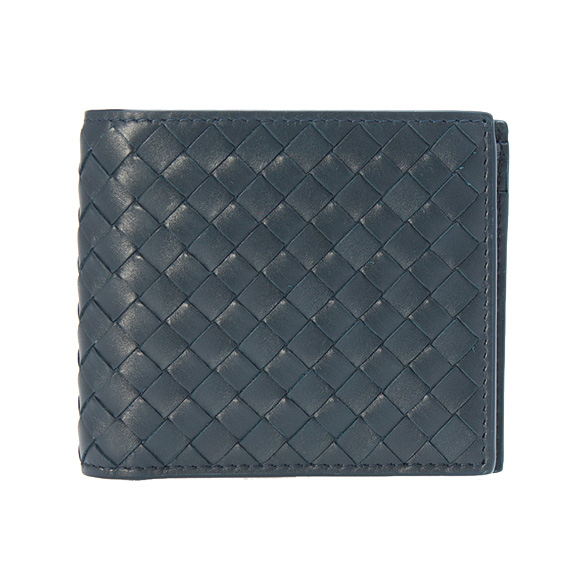 ボッテガヴェネタ BOTTEGA VENETA 財布 メンズ 二つ折り財布(小銭入れ付) ネイビー 193642 V4651 4013 LIGHT TOURM