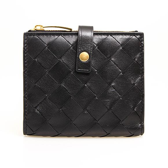 ボッテガヴェネタ BOTTEGA VENETA 財布 レディース 二つ折り財布 ブラック 600270 VCPP3 8648 NERO