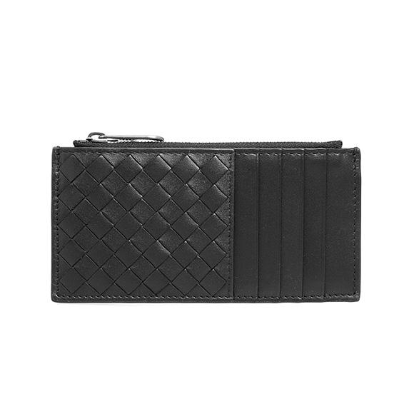 ボッテガヴェネタ BOTTEGA VENETA 財布 メンズ カードケース/コインケース ブラック CARD CASE 566430 V4651 1000 NERO/NERO