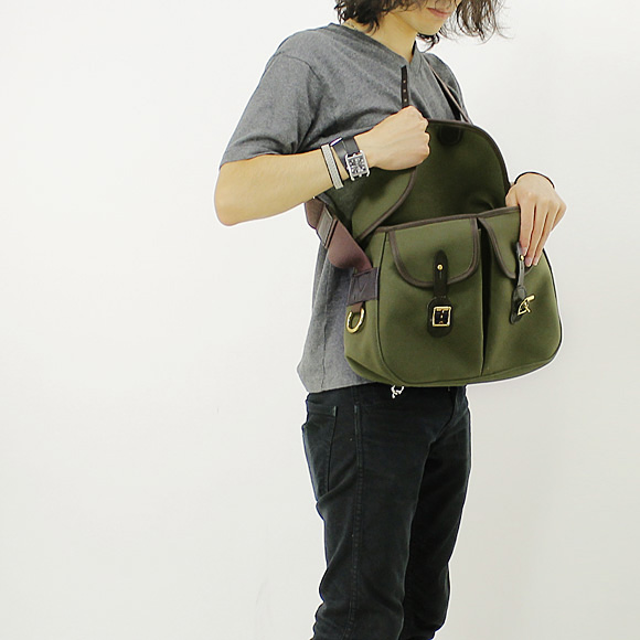 Brady bags TRADITIONAL men's shoulder bag olive ARIEL TROUT SMALL WITHOUT LINER 8F-ARIT-LOL-NL OLIVE BRADY shake in sweet Brady fs3gm