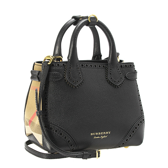 Burberry Bag Lady 2way Hand Shoulder Black Baby Banner 4068515 Achlt 00100