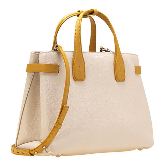 17f6eba7d81 Burberry BURBERRY bag lady 2WAY hand / shoulder bag limestone / coneflower  yellow MD BANNER 4075951 ...