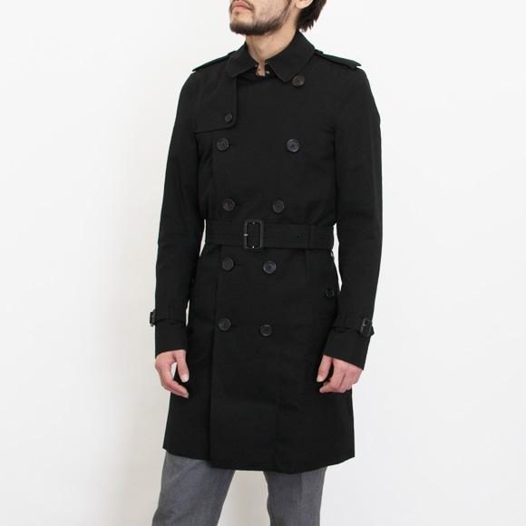 9309ce539d9 Burberry BURBERRY outer men trench coat black black SANDRINGHAM LONG  3911052 DK 00100 BLACK